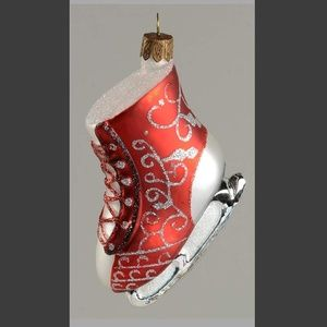 Waterford - Red & Silver Ice Skates Ornaments